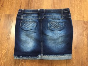 Hot Fashion Ladies Short Jean Skirt pictures & photos