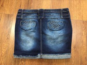 Ladies Short Jean Skirt pictures & photos