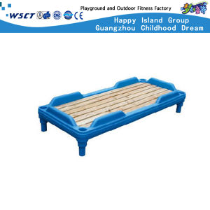 Kindergarten Kids Folding Bed Plastic Furniture (Hc-2105) pictures & photos