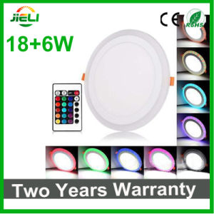 Round RGB Recessed (18+6) W LED Panel Light pictures & photos