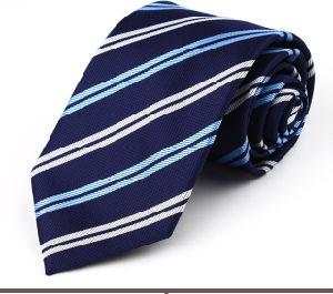 100%Pure Woven Silk Necktie- Blue Colour