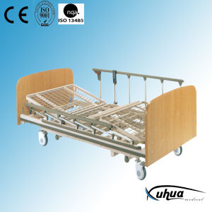 Type-B Wooden Material Super-Low Electric Medical Bed pictures & photos