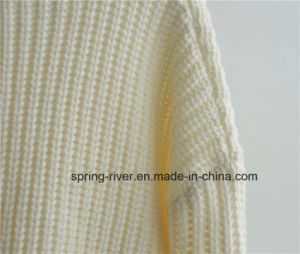 Chunky Pure Color Knit Sweater for Ladies pictures & photos