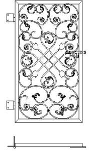 Classic Wrought Iron Entrance Gate pictures & photos