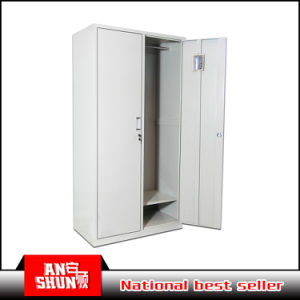 Two Door Colorful Steel Bedroom Wardrobe / Metal Dressing Cupboard pictures & photos