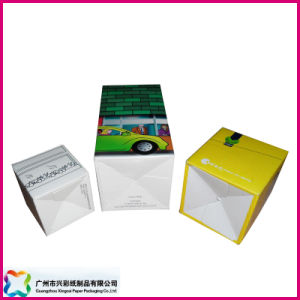 Customized Simple Flat Paper Gift Folding Box (XC-3-001) pictures & photos