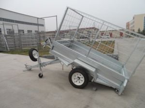 Australia Galvanized Tandem Utility Tipping Welded Box Cage Trailer pictures & photos