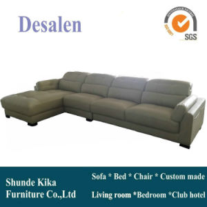 L Shape Brown Color Leather Sofa, Home Furniture (909) pictures & photos