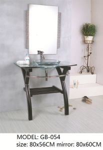 Transparent Glass Basin Vanity with Mirror pictures & photos