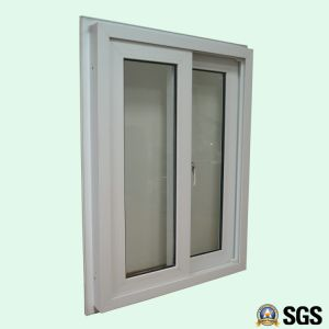 White Colour UPVC Profile Sliding Window with Special Edge, UPVC Window, Window K02081 pictures & photos