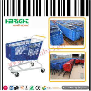 Powder Coating Plastic Shopping Trolley Cart for Supermarket pictures & photos