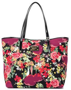 Flower Printing Fashion Lady Cotton Leisure Shoulder Handbags