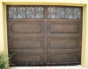 Square Top Garage Doors with Iron pictures & photos