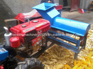 Multifunction Corn Peeling and Threshing Machine with Diesel Engine