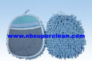 Professional Manufacture Bath Gloves Chenille Mitt Car Wash Mitt (CN1414) pictures & photos