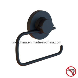 Suction Toilet Roll Holder, Steel, Matt Black pictures & photos