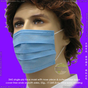 Disposable SMS Surgical Face Mask with Elastic Ear-Loops pictures & photos