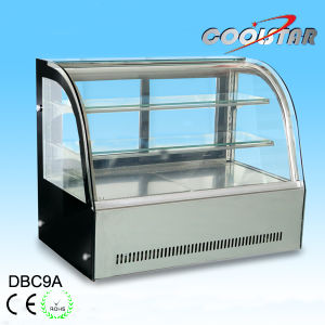 Stainless Steel Cake Refrigerating Showcase with LED Lighting pictures & photos