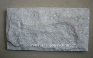 Q310 Pure White Quartzite Mushroom Wall Cladding Tile pictures & photos