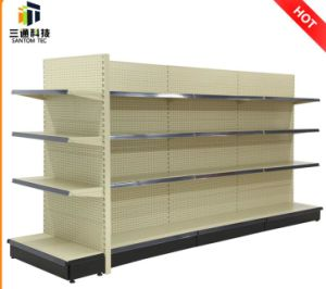 Perforated Panel Metal Supermarket Shelf pictures & photos
