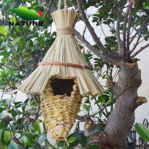 Straw Birdhouse for Garden and Outdoor