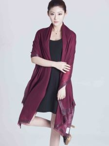2017 Red 100% Cashmere Women Scarf From Shanghai pictures & photos