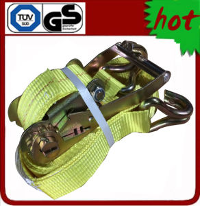 "2"" X 30′ Ratchet Strap with Double J Hooks pictures & photos"