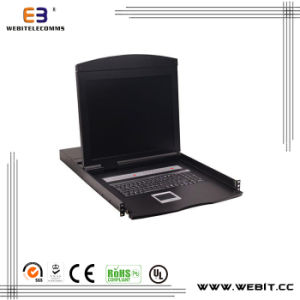 "19"" 8 Ports Cat5 LCD Kvm Switch Console pictures & photos"