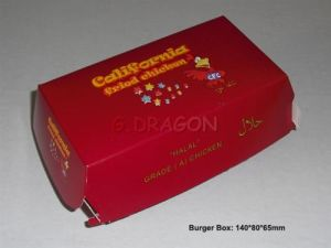 Oblong Set of 6 Prefolded Boxes Burger Boxes (BB004) pictures & photos