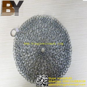 Pan Pot Cleaner Stainless Steel Chainmail Scrubber pictures & photos