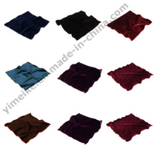 Latest Elegant Wedding Dinner Velvet Single Color Hanky pictures & photos