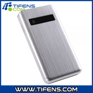Metal Power Bank with LED Lights Silver 20000mAh