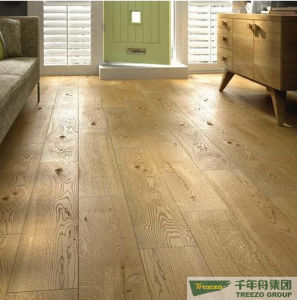 Wire Brushed Oak Engineered Wood Flooring (HH-G603)