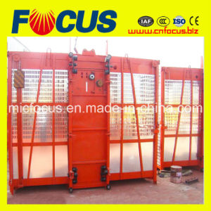 Reliable Heavy-Load! Sc200/200 Construction Hoist with Double Cage pictures & photos