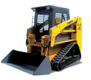 Construction Machine, Bobcat, Crawler Loader, Shovel Loader, Front Loader, Skid Loader (TS50) Track Skid Loader Rated Load 700kg 50HP for Skid Steer Loader