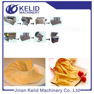 High Automatic Industrial Fried Cassave Chips Machine pictures & photos