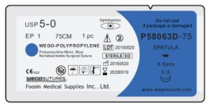 Polypropylene Surgical Sutures with Double Small Needles pictures & photos