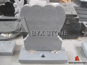 Grey Granite Double Heart Tombstone / Monument pictures & photos