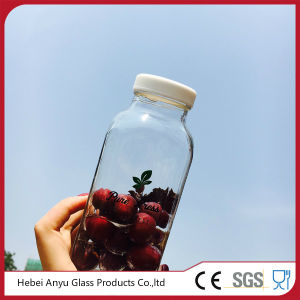 250ml Squared Plastic/ Glass Bottle for Beverage /Juice/ Water