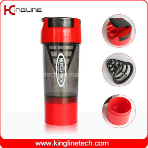 600ml Plastic Shaker Bottle with Filter and Containers (KL-7008) pictures & photos