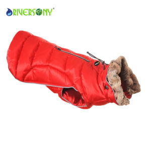 Dog Outdoor PU Winter Jacket pictures & photos
