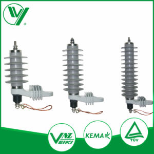 Kema Report Gapless Type Rated Voltage 30kv 10ka Composite Lightening Arrester pictures & photos