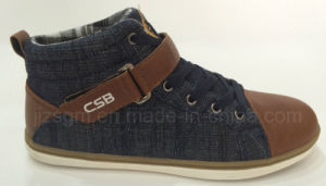Comfort High Top Washed Denim Casual Shoes pictures & photos