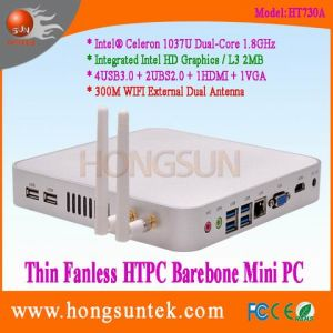 Barebone Mini PC Ht730A Intel Celeron 1037u 1.80GHz Dual Core with USB, VGA and WiFi