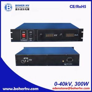 High power supply 40kV 300W for general purpose LAS-230VAC-P300-40K-2U pictures & photos