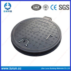 D400 Black Colors Round Polymer BMC Manhole Cover pictures & photos