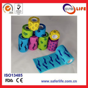 Wholesale Printed Cohesive Bandage Tape for Medical Usuage pictures & photos
