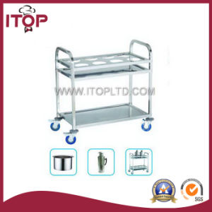 Two-Layer Round Tube Stainless Steel Dining Trolley (A1020, A1021, A1022) pictures & photos