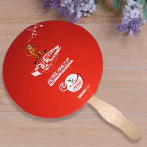 Customized Advertising Fan Gift Small Hand Fans Made of Cardboard pictures & photos