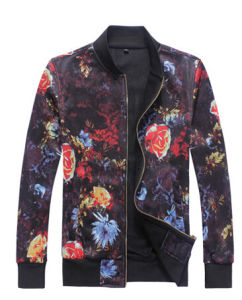 Flower Printed Colorful Fashion Casual Jacket for Young Boy pictures & photos